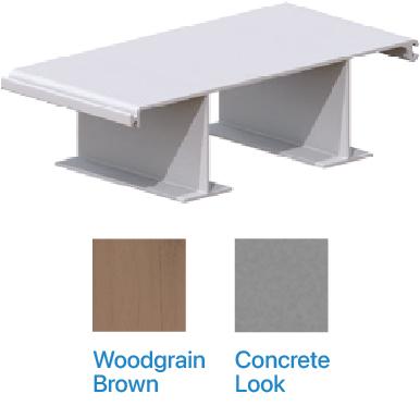 Flat panel Kunststof damwand